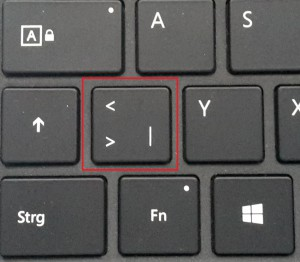 Microsoft Surface Pro 4 TypeCover Druckfehler