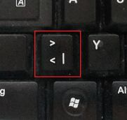 Korrekt bedruckte Tastatur eines anderen Herstellers