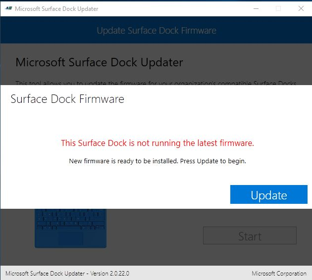 Update Microsoft Surface Dock