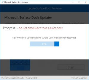 Microsoft Surface Pro4 Dock Update Prozess