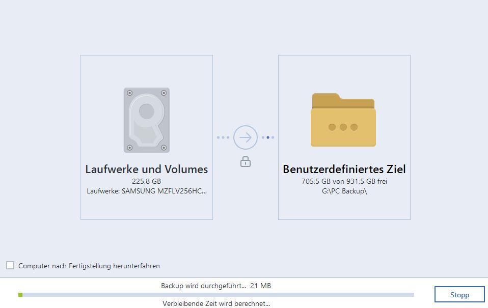 Microsoft Surface Pro 4 - Datensicherung