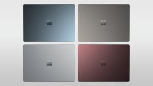 Microsoft Surface Laptop Farben