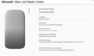 Microsoft Surface Arc Mouse Softwareeinstellungen